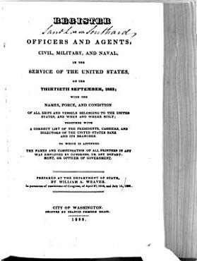 Register of All Officers and Agents  Civil  Military  and Naval  in the Service of the United States  on the     PDF