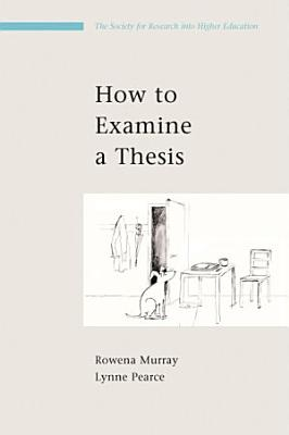 How To Examine A Thesis PDF