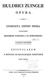 Huldreich Zwingli's Werke: Band 7