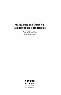 4G Roadmap and Emerging Communication Technologies PDF