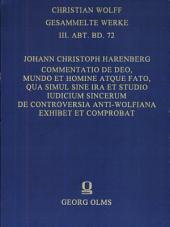 Commentatio de Deo mundo et homine atque fato
