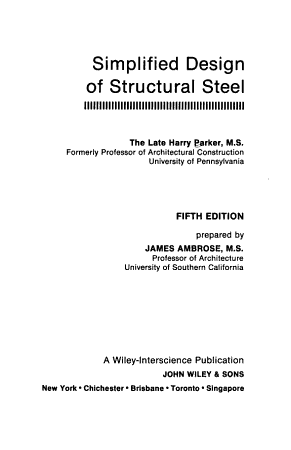 Simplified Design of Structural Steel PDF