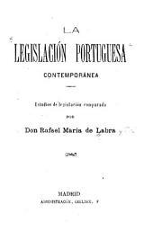 La legislación portuguesa contemporánea: estudios de legislación comparada