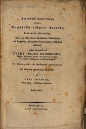 Anatomisk Beskrifning öfver Nematoidslägtet Ascaris: Akad. Achte. def. Carl Landatel, pr.gr