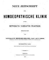 Hirschel's Zeitschrift für homöopathische Klinik: Bände 20-22