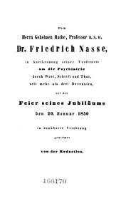 Allgemeine Zeitschrift für Psychiatrie und psychisch-gerichtliche Medizin: Band 6