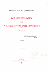 Die Grundlagen des neunzehnten Jahrhunderts ...