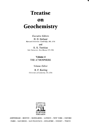 Treatise on Geochemistry: The atmosphere