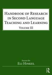 Handbook Of Research In Second Language Teaching And Learning Book PDF