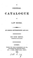 A General Catalogue of Law Books PDF