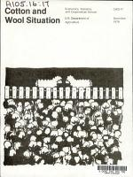 Cotton   Wool Situation PDF