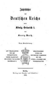 Jahrbücher des Deutschen Reichs unter König Heinrich I.