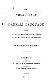 A Small Vocabulary of the Dankali Language