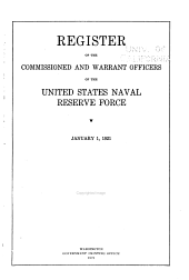 Register of the Commissioned and Warrant Officers of the U.S. Naval Reserve Force