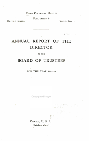 Annual Report of the Director to the Board of Trustees for the Year     PDF