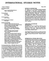 International Studies Notes PDF