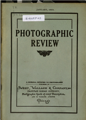 Photographic Review: A Journal Devoted to Photography, Volume 26, Issue 1