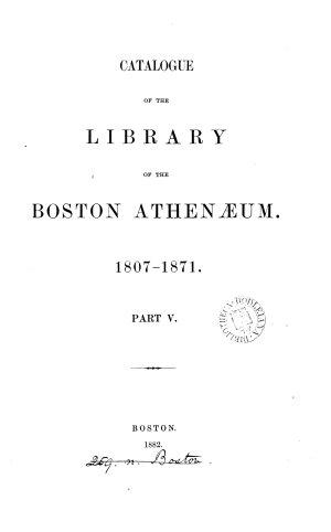 Catalogue     1807 1871