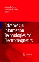 Advances in Information Technologies for Electromagnetics PDF