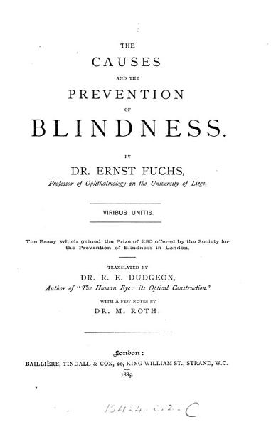 Download The Causes and the Prevention of Blindness Book