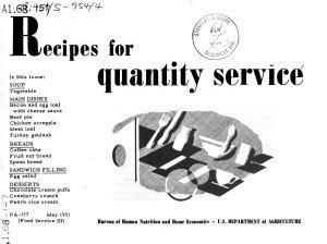 Recipes for Quantity Service