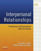 Interpersonal Relationships   E Book PDF