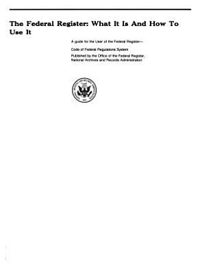 The Federal register PDF