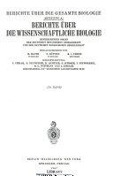 Berichte Biochemie und Biologie PDF