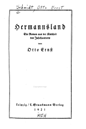 Hermannsland: ein Roman aus der Kindheit des Jahrhunderts