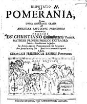 Disputatio de Pomerania