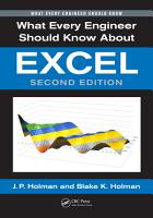 What Every Engineer Should Know About Excel PDF