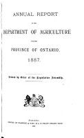 Ontario  Canada  Department of Agriculture  Annual Report PDF