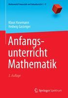 Anfangsunterricht Mathematik PDF