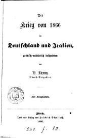 Der Krieg von 1866 in Deutschland und Italien: politisch-militarisch beschrieben, Band 4