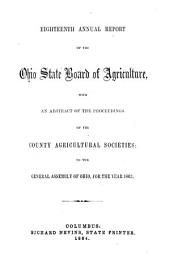 Annual report of the Ohio State Board of Agriculture: with an abstract of the proceedings of the county agricultural societies to the General Assembly of Ohio for the year ...