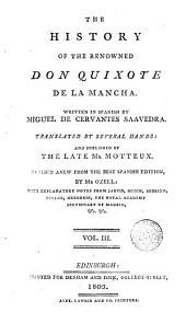 The History of the Renowned Don Quixote de la Mancha,3