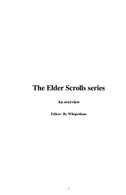 The Elder Scrolls Series PDF