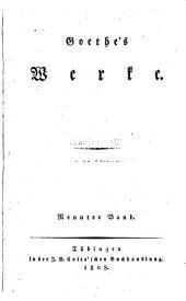 Goethe's werke: Band 52