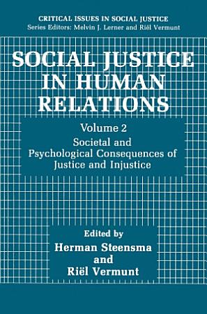 Social Justice in Human Relations Volume 2 PDF