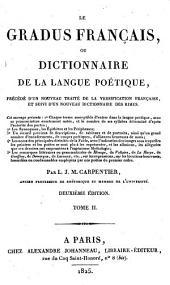 Le gradus francais ou dictionnaire de la langue poetique. 2. ed: Volume2
