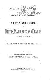 Report ... Relating to the Registry and Returns of Birth, Marriages, Deaths and Divorces in the State ...: Volume 21