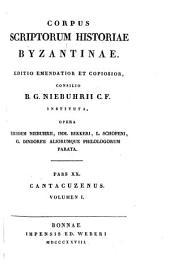 Corpus scriptorum historiae byzantinae: Volume 2, Part 1