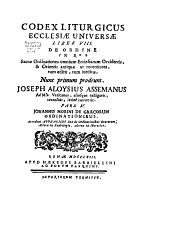 Codex liturgicus ecclesiæ universæ in quo continentur libri rituales: Volume 12