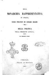 Della monarchia rappresentativa in Italia saggi politici di Cesare Balbo