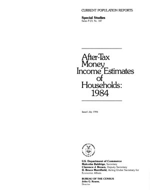 After tax Money Income Estimates of Households