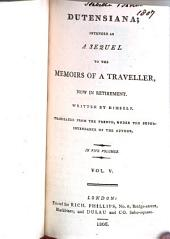Memoirs of a traveller, now in retirement: Volume 1