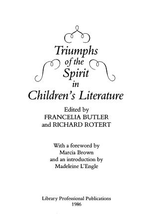 Triumphs of the Spirit in Children s Literature PDF
