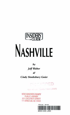 Nashville   Insiders  Guide PDF