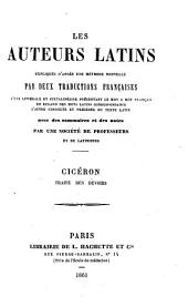 Cicéron. Traité des devoirs. (Expliqué littéralement, traduit en français et annoté par M. Sommer.).
