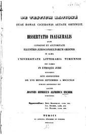 De testium ratione: quae Romae Ciceronis aetate obtinuit ...